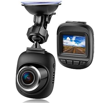 Mini cámara de salpicadero, Linstar Full HD 1080P cámara de coche con 168° de