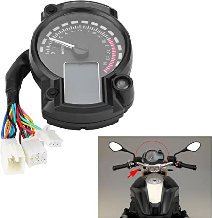Duokon Cavo sensore tachimetro Cavo sensore con 3 magneti per contachilometri digitale per moto