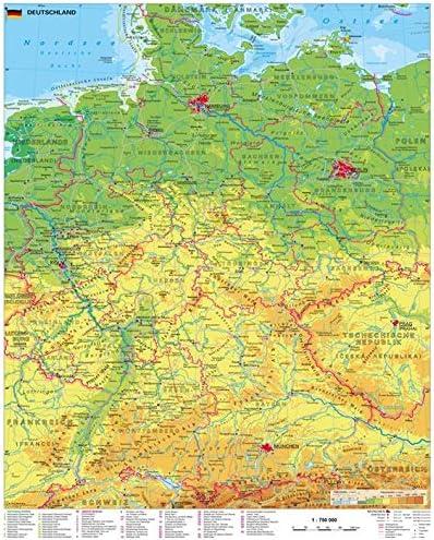 stiefel deutschlandkarte Stiefel EUROCART Deutschlandkarte Deutschland physisch, 97 x 119