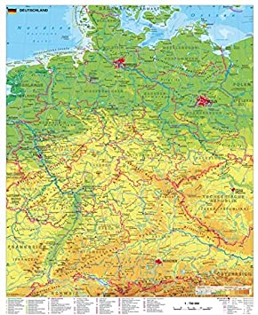 Deutschland Karte Physisch   Karte 2020