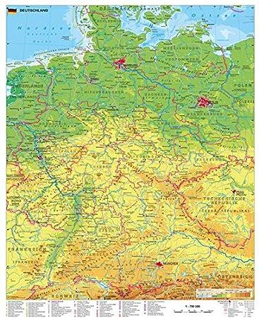 deutschlandkarte Deutschlandkarte Deutschland physisch , 97 x 119 cm als Poster  deutschlandkarte