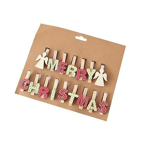 Amazon.com: QHB 16 clips de decoración de Navidad coloridos ...