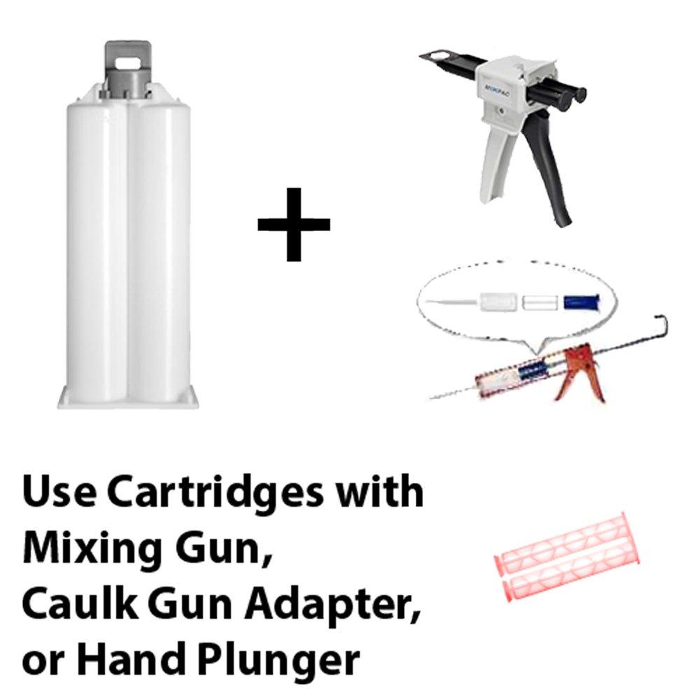Huntsman Araldite 2021-1 Toughened 5-Min Methacrylate Kit (MMA) Multi-Use Adhesive (50ml/1.7oz) Hand Plunger by Araldite