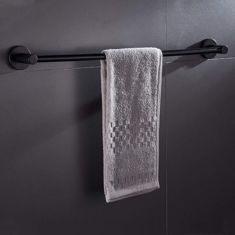 Handtuchhalter Schwarz Dpliu-LY Handtuchhalter Handtuchhalter ohne Bohren an der Wand Size : 30cm Handtuchhalter aus rostfreiem Edelstahl mit Einzelstange for Hotelk/üche und Toilette B 7 cm