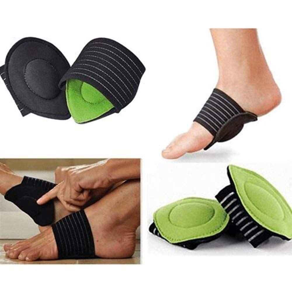 Festnight 1 Pair Compression Arch Support with More Padded Comfort for Plantar Fasciitis, Fallen Arches, Heel Spurs, Flat Feet and Achy Foot Pain Problems