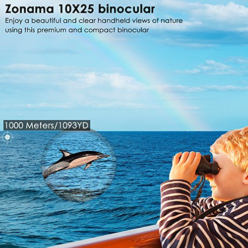 Birding Binoculars , Compact High Power 10X25 Kids Binoculars Mini Shockproof Lightweight Telescope For Bird Watching , Hiking , Hunting , Traveling and Sporting Games , Best Gifts for Kids / Adults by ZONAMA (Image #1)