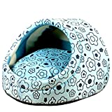 WERSHOW Cute Slipper Shape Small Dogs House Princess Dog Bed Dog Nest Washable Warm Pet Kennel 3-Size Cotton Soft Small Dog Cat Pet Bed House (S)