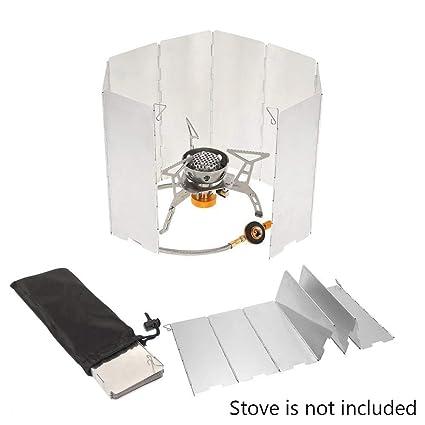 Ezyoutdoor Plegable 10 Platos Cocina Gas Barbacoa Estufa Viento Escudo Protector de Picnic al Aire Libre