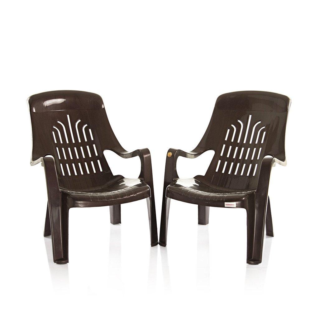 Varmora Premium Chair Set Of 2 (Verti Leisure   Brown): Amazon.in:  Electronics