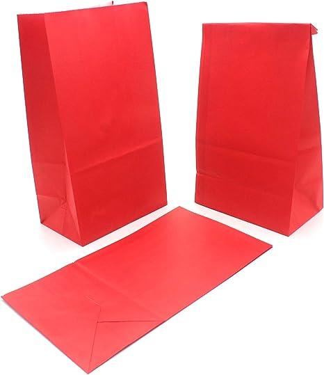 TOPWINRR 50pcs Sacchetti Regalo Carta 10 Colori con Adesivi Sigillanti per Bambini Natale Festa Compleanno Forniture