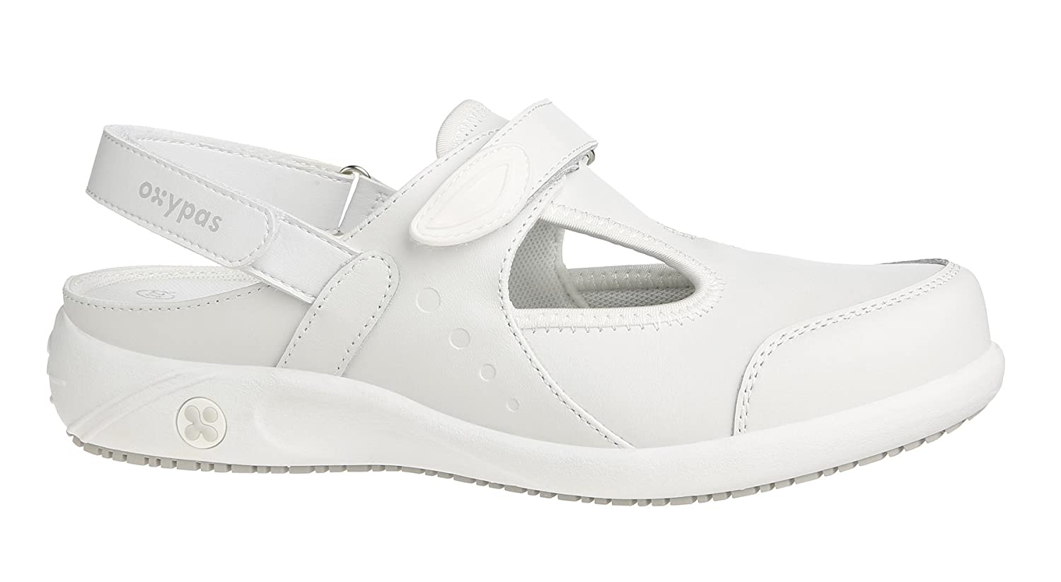 Oxypas Move Carin Slip-resistant, Antistatic Nursing Shoes, White (Wht), 7 UK (EU: 41)Bianco (White (Wht)
