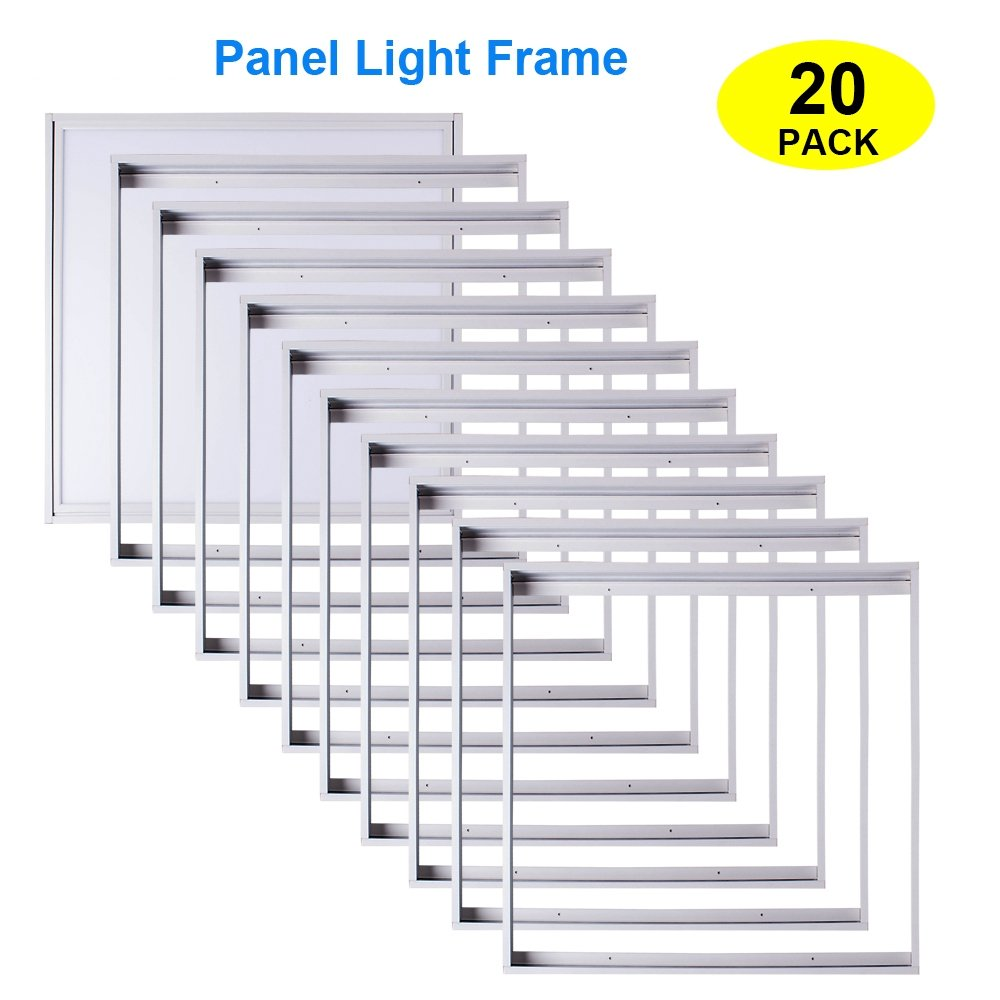 T-SUNRISE Aluminum Frame for Surface Mount 2x2 LED Panels (20 Pack) by T-SUNRISE