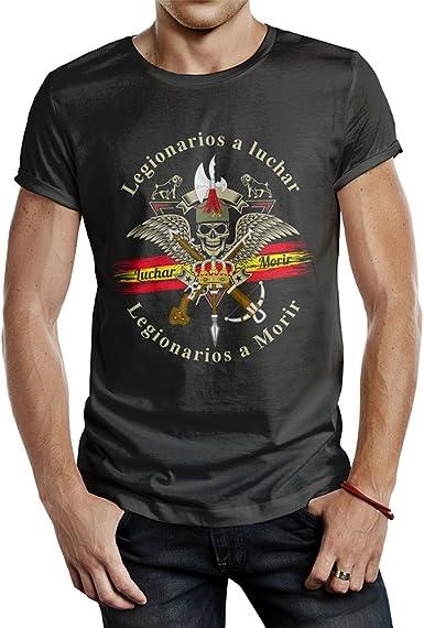 ALBERO Camiseta Negra Legión Española Blue Line Soy El Novio de la Muerte: Amazon.es: Ropa y accesorios