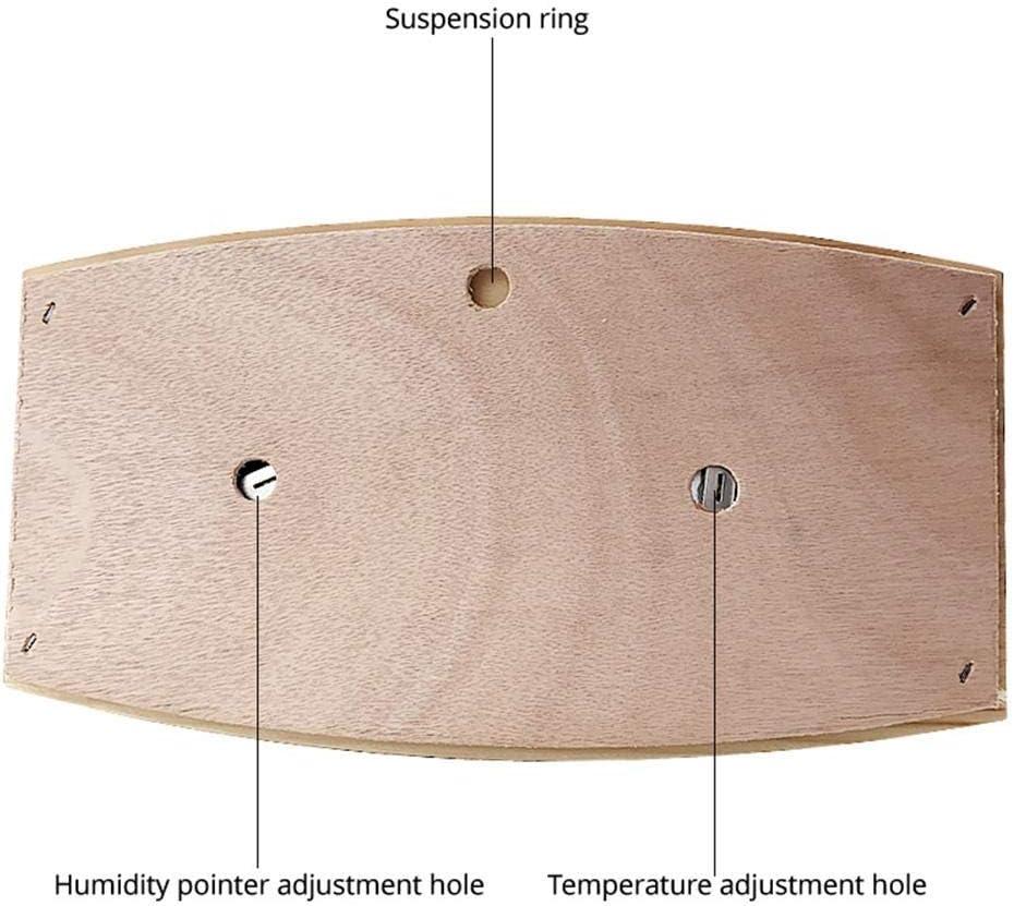 9,25 X 5,2 X 1,2 Pouces Longueur X Largeur X Profondeur 20 ℃ -140 ℃ Thermo-hygrom/ètre pour Sauna 2 en 1 Fabriqu/é en Pin 100 R/ésistant /À La Chaleur