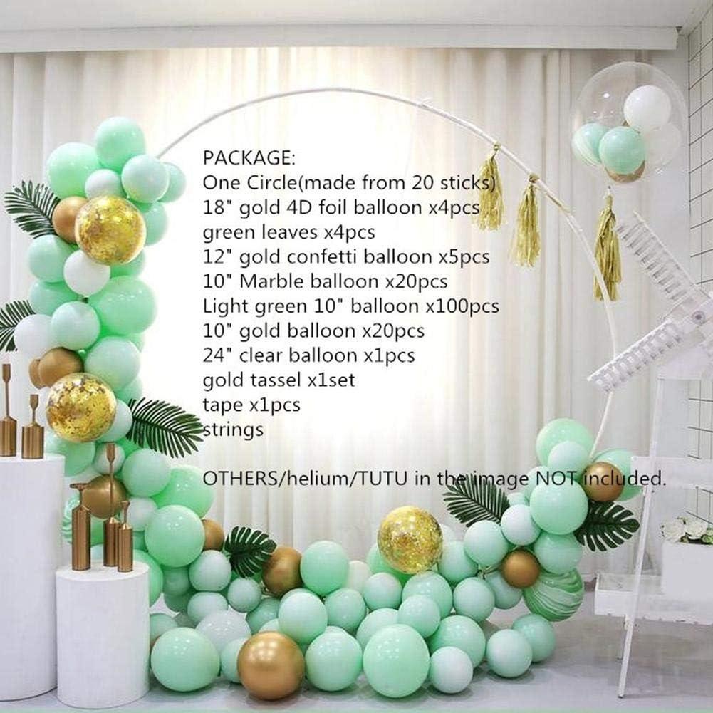 anniversaire ballons ronds en forme de macaron pour f/ête pr/énatale WXGY Guirlande de ballons et arche en latex 176 pi/èces mariage 2019 18inch jaune