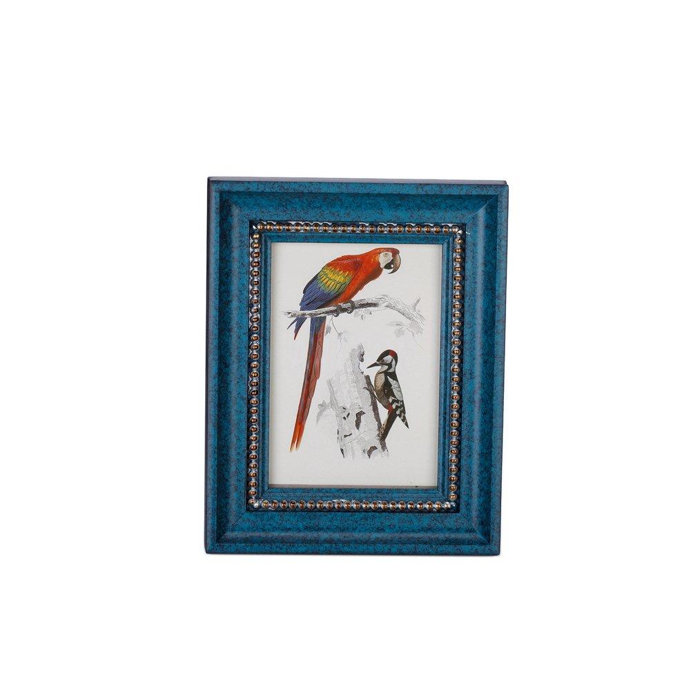 Fulemay 木製フォトフレーム「木の芸術」シリーズ 写真立て KG 2L 6切り グリンー ブルー ブラウン ホワイト B075LGC94S 2L|青 青 2L