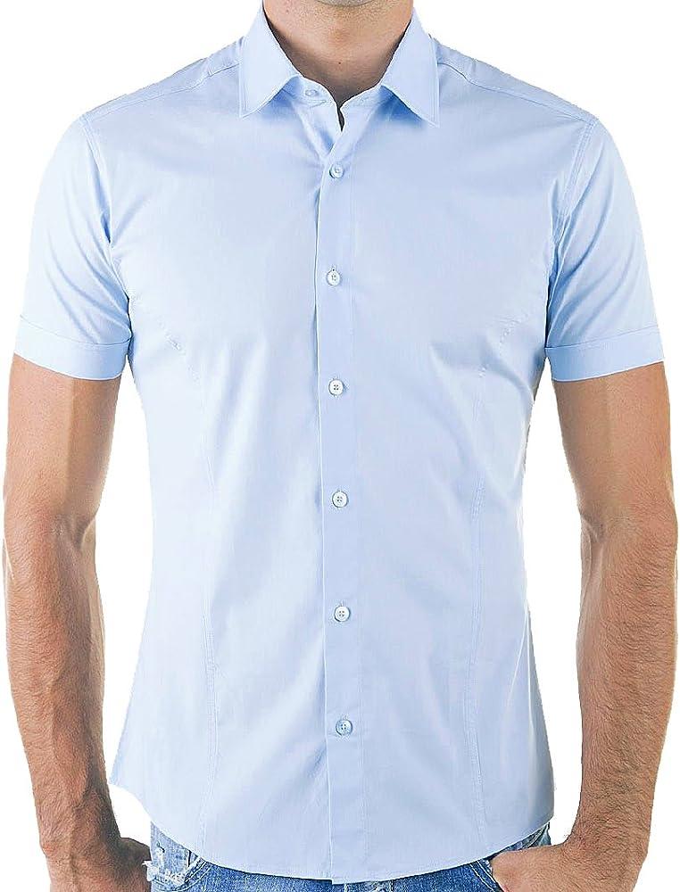 Red Bridge Camisa Casual Manga Corta para Hombre Azul Claro: Amazon.es: Ropa y accesorios