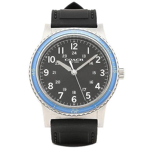 25e3e7cd9767 [コーチ] 腕時計 メンズ アウトレット COACH W5015 F3A ブラック シルバー ブルー [並行輸入品
