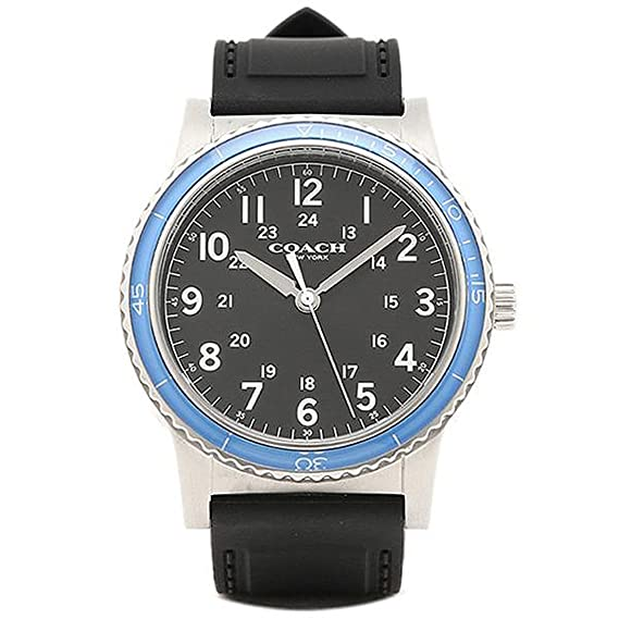factory authentic 7d7cc 6fe77 [コーチ] 腕時計 メンズ アウトレット COACH W5015 F3A ブラック シルバー ブルー [並行輸入品]