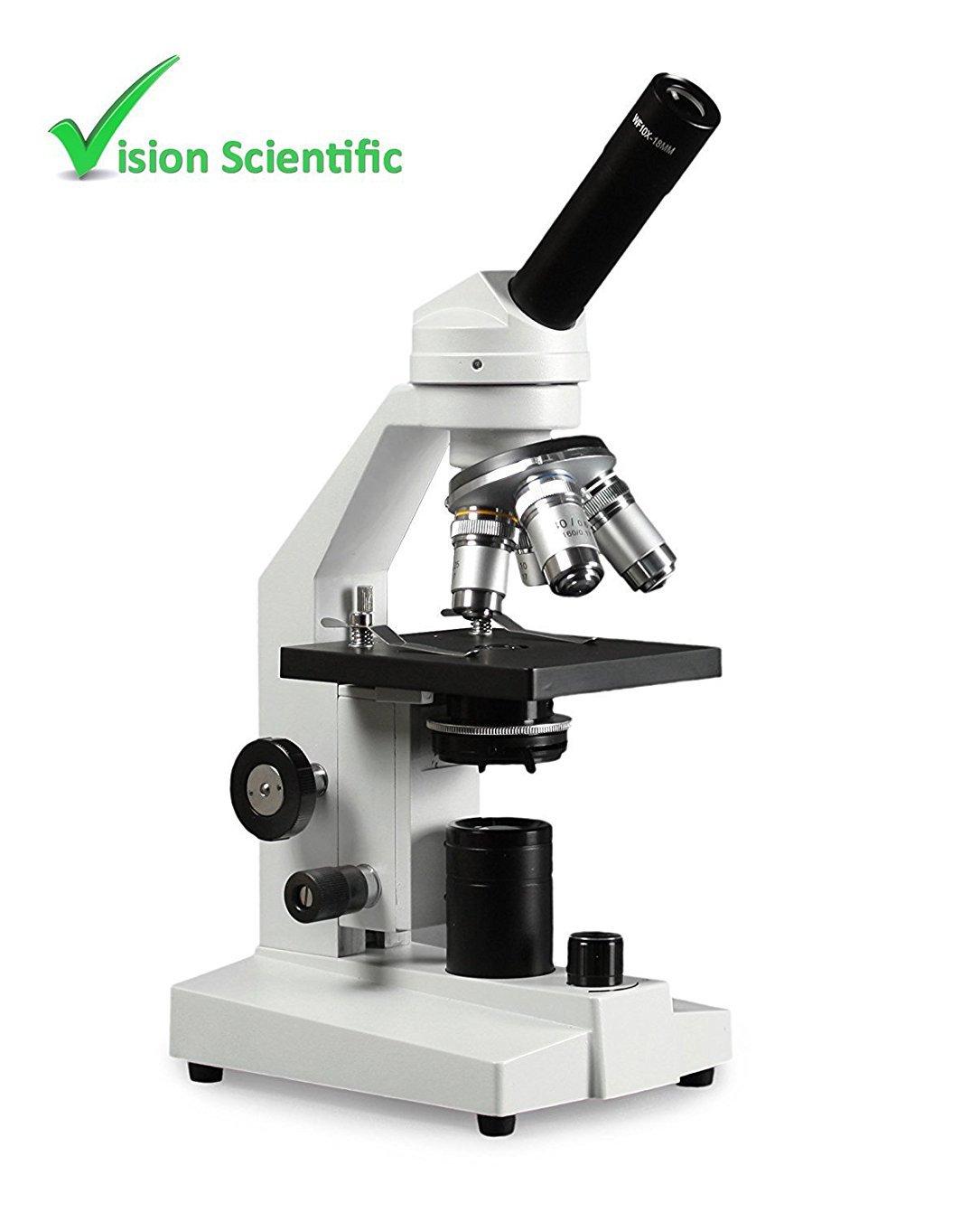 Vision Scientific VME0020X-E2 LED Microscope, 40x-2000x Magnification, LED Illumination with Intensity Control, 1.25 N.A Abbe Condenser, Coarse and Fine Focus, 110V
