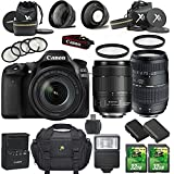 Canon EOS 80D 24.2MP DSLR Camera with Canon EF-S 18-135mm f/3.5-5.6 IS USM Lens + Tamron 70-300mm AF Lens + 2pc 32GB SD Cards + Extra Battery + Auxiliary Lens Kit + Flash + 6pc Filter Kit + Case Review