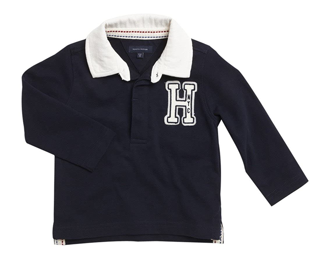 Tommy Hilfiger - Polo de Manga Larga Rugby, bebé niño, Color: Azul ...