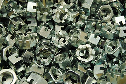 (50) Slotted Hex Castle Nuts 3/4-16 Fine Thread Zinc Plated by Lexar Industrial