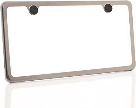Titanium GOLD Slim Style Stainless Steel License Plate Frame