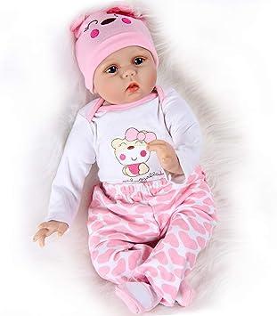 Amazon.es: ZIYIUI 55cm Realista Muñeca Bebe Reborn 22 Pulgadas Muñecos Bebé Niña Vinilo Suave Silicona Reborn Baby Dolls Girl Ojos Abiertos Niños Juguete: Juguetes y juegos