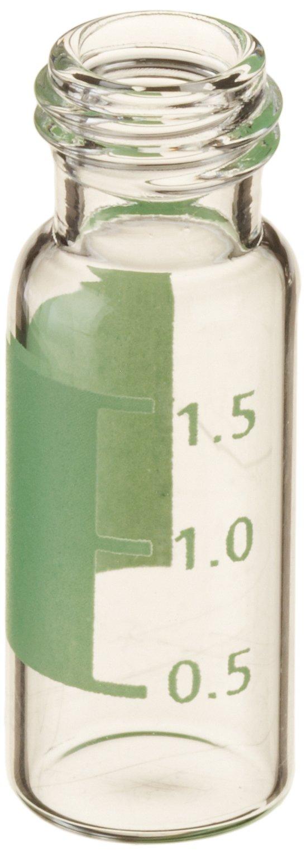 National Scientific 9mm Screw Thread Target DP Robo Vials, 2ml Capacity, 12mm I.D. x 32mm H (Case of 2000)