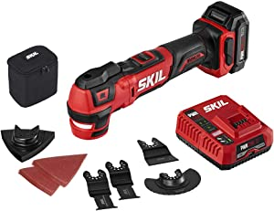 SKIL PWRCore 12 Brushless 12V Oscillating Tool Kit with 40pcs Accessories, Includes 2.0Ah Lithium Battery and PWRJump Charger - OS592702