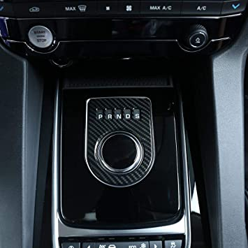 Gear Shift Box Cover,Carbon Fiber Style Gear box Control Panel Cover Frame Shift Decorative Accessories fit for Jaguar XF XE XJL XJ F-PA CE F Pace
