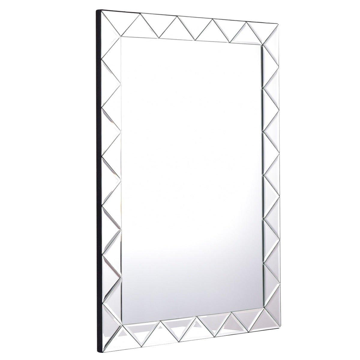 TANGKULA 21.5'' x 30.5'' Wall Mirror Beveled Mirror Rectangle Bathroom Home Decor Mirror