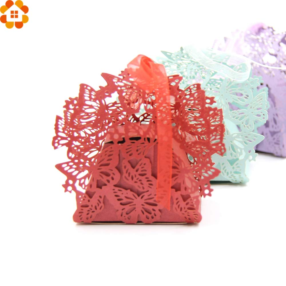 Gift Boxes Box Candy Wedding 20PCS Lovely Butterfly Candy Box ...