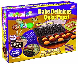 Telebrands 5720-12 Bake Pop: Cake Pops Baking Pan & Accessories