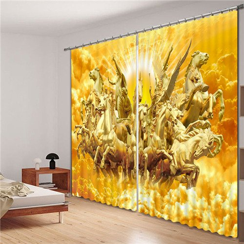 Sproud Chinese Dragon Luxury 3D Blackout Curtains For Living Room Bedding Room Drapes Cotinas Para Sala Halloween Decorative 260Dropx380Wide(Cm) 2 pieces