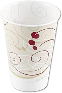 product image for Jazz Waxed Paper Cold Cups Tide Design Volume/Quantity: 7 oz, 2000/Carton