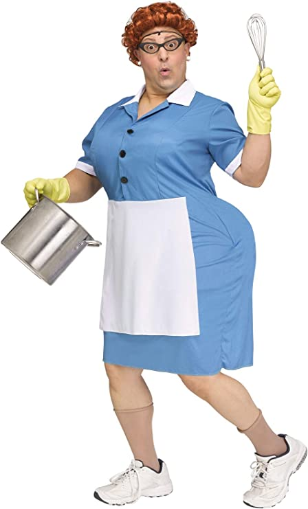 1950s Costumes- Poodle Skirts, Grease, Monroe, Pin Up, I Love Lucy Fun World Cafeteria Lady Adult Costume $51.76 AT vintagedancer.com