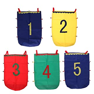 MonkeyJack 5pcs Number 1-5 50x70cm Jumping Sack Toy Race Bag Balance Training Development Sports Games Kids Family Outdoor Games