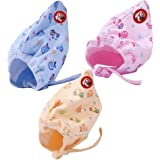 GURU KRIPA BABY PRODUCTS Soft Pure Cotton Caps with Tai Knot and Bonnet Infant Unisex Hat/Topi