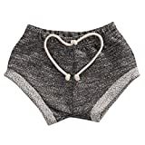 Infant Baby Toddler Little Boys Girls Kids Harem Pants Pure Color Baby Shorts (9-18M, Grey)