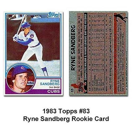 Amazoncom Ryne Sandberg Hof 1983 Topps Mlb Rookie Card