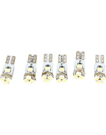 Luz de salpicadero de coche - SODIAL(R)6pzs T5 3020 Blanco 5 LED