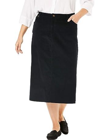 b454a94ec8d Woman Within Women's Plus Size Corduroy Skirt