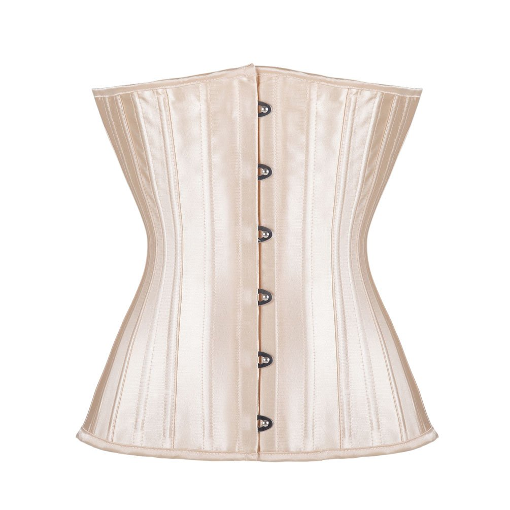 Steel Boned Corset Satin Underbust WorkOut Waist Cincher Waist Training Corset Romady RO08005