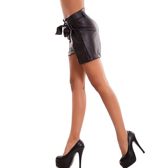 a21723d8a357c9 Toocool - Pantaloncini Donna Pantaloni Ecopelle Shorts Ampi Vita Alta  Fiocco Nuovi CJ-2159 [L,Nero]: Amazon.it: Abbigliamento