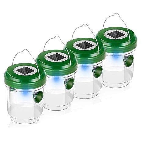 STRIR Trampa de Avispas, Repelente de Abejas Solar Mosca de Fruta Receptor Asesino con Luz LED, Atrayente para Mosquitos, Insectos y Avispones, Ideal ...