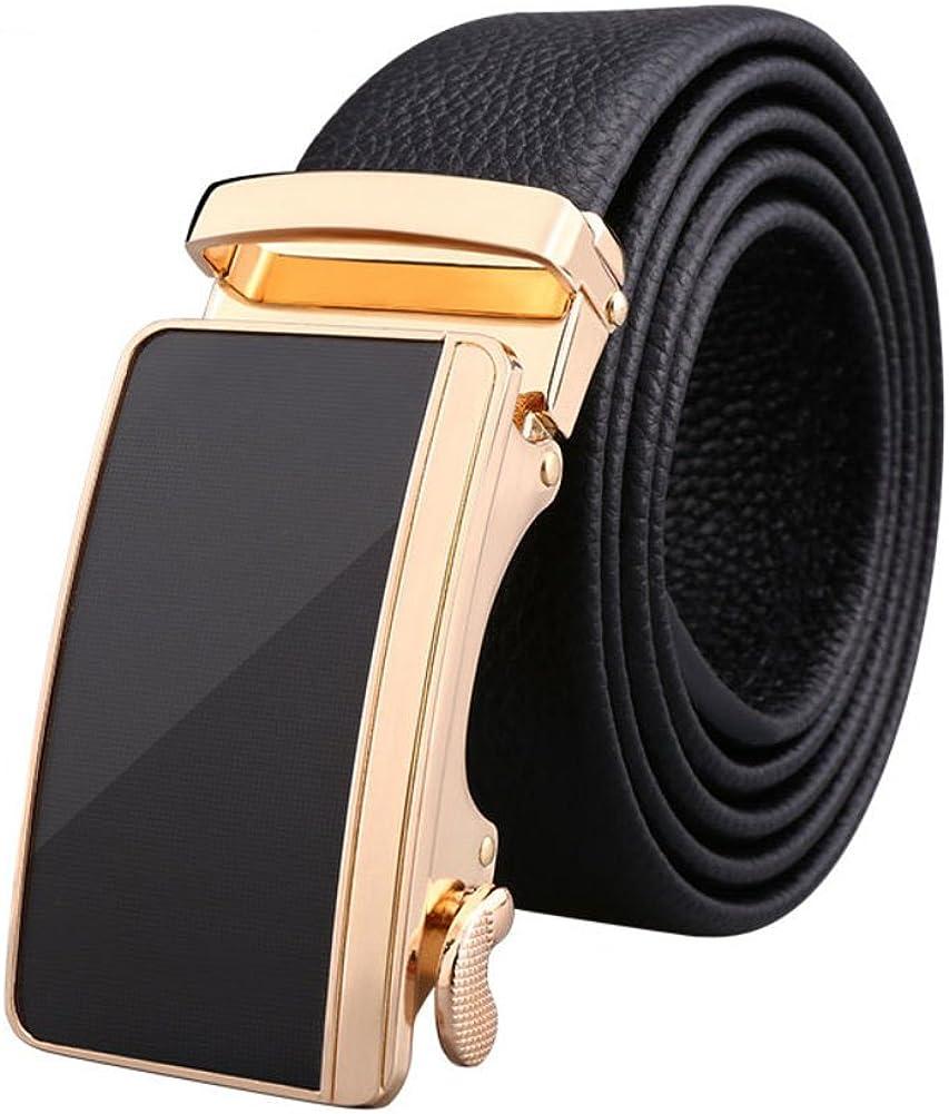 Mens Automatic Buckle Belt,Smart Casual Youth Dress Belt