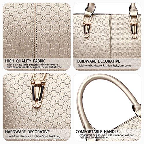 Women's Shoulder Golden Handle Leather PU Tote Handbags Bag Satchel Top Hobos Crossbody Bag Bags ZZqx5rgU