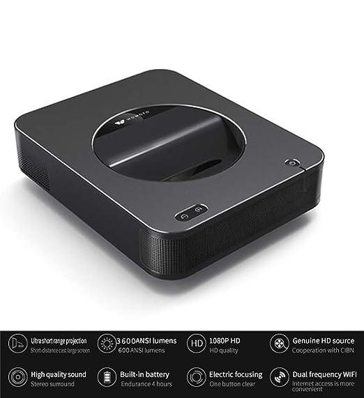 WXJHA Inteligente portátil Enfoque a Corto proyector 1000 lúmenes ...